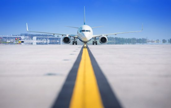 modern airliner on a runway